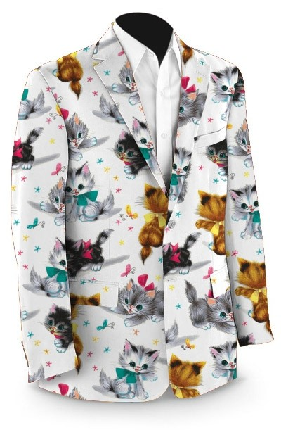 Cute Little Pussy Cats Men's Sport Coat MTO