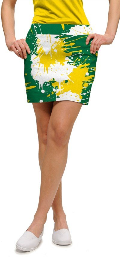 Green & Gold Paint Women's Skort/Skirt MTO