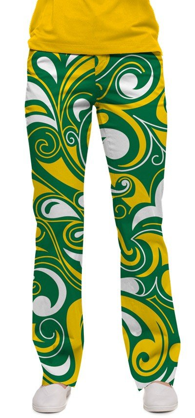 Green & Gold Splash Women's Capri/Pant MTO