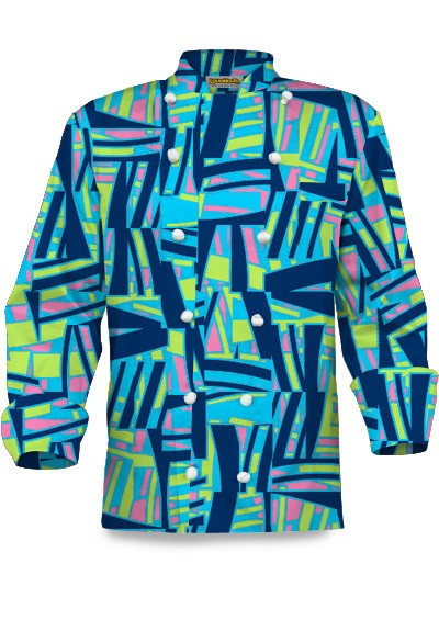 Tiki Bar Blue Chef Jacket MTO