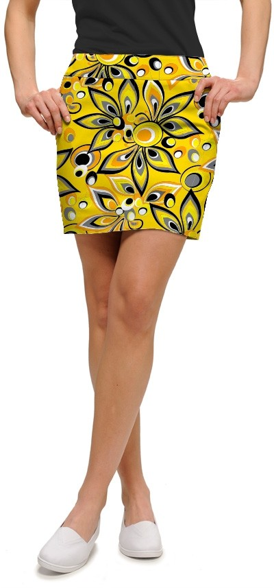 Shagadelic Yellow Women's Skort/Skirt MTO