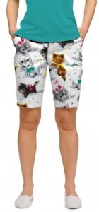 Cute Little Pussy Cats Women's Bermuda Short MTO
