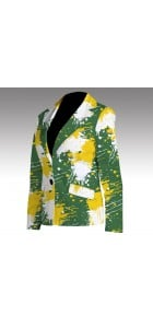 Green & Gold Paint Women's Blazer MTO