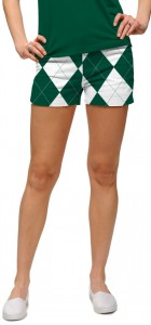 Green & White Argyle Women's Mini Short MTO