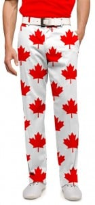 Canada Maple Leaf White StretchTech Men's Trouser MTO