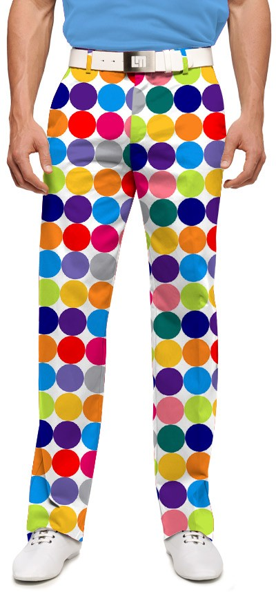 Disco Balls White Men's Trouser MTO