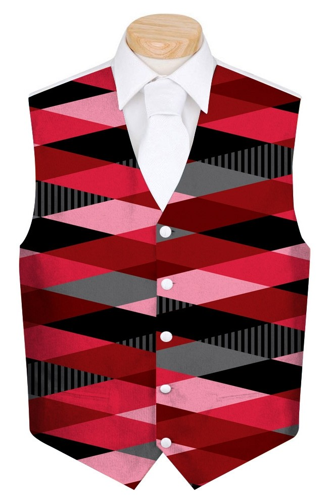 Fore Shades of Red Men's Waistcoat MTO