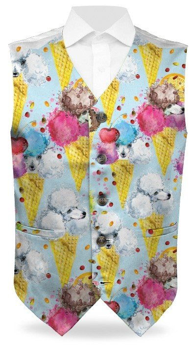 French Poodle Sundae StretchTech Men's Waistcoat MTO