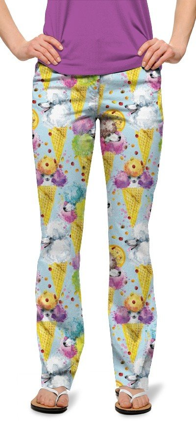 French Poodle Sundae StretchTech Women's Capri/Trouser MTO