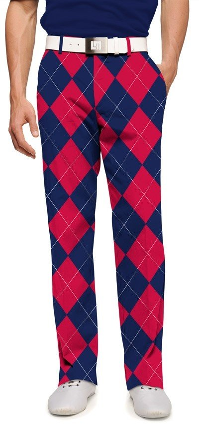 Navy & Red Mega StretchTech Men's Trouser MTO