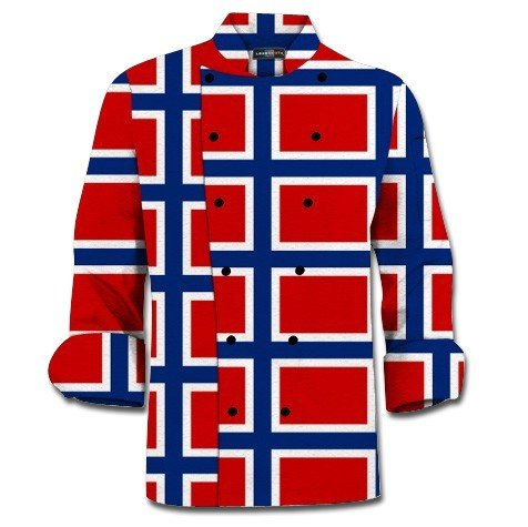 Norway Flag Chef Jacket MTO