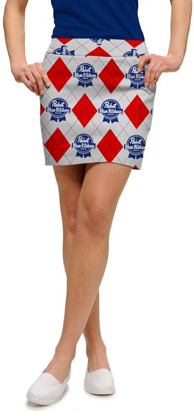 Pabst Blue Ribbon Gray Women's Skort/Skirt MTO
