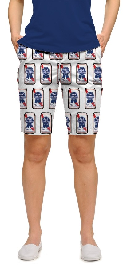Pabst Blue Ribbon Cans Women's Bermuda Short MTO