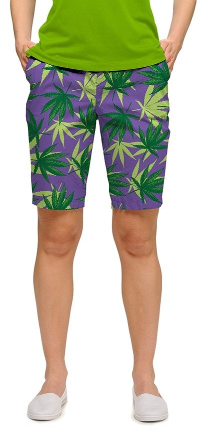 Purple Herb StretchTech Women's Bermuda Short MTO