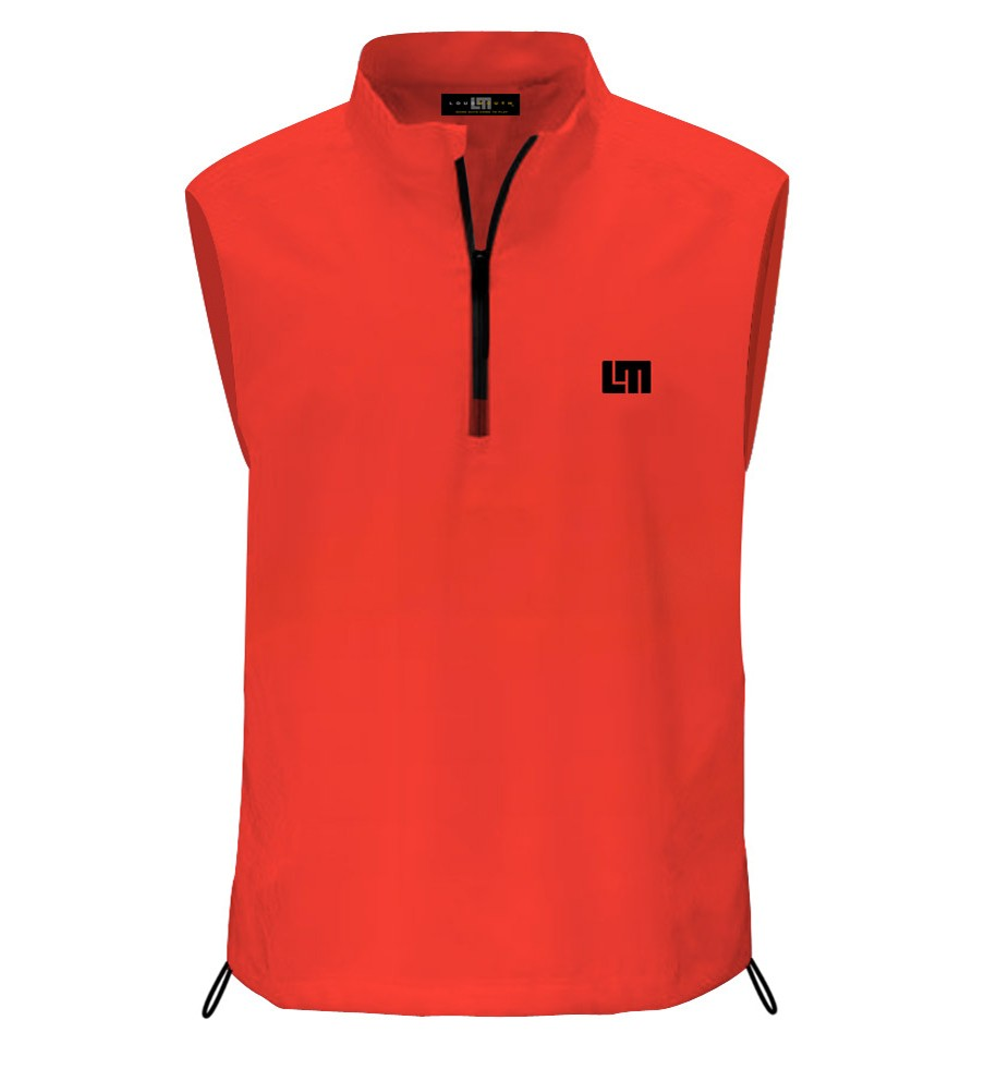 Red Half Zip Vest Windshirt