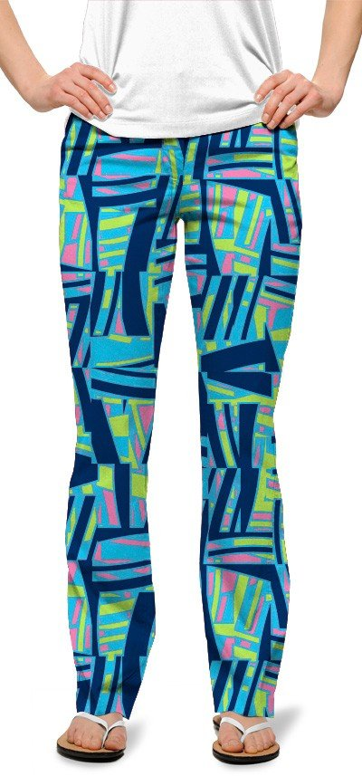 Tiki Bar Blue Women's Capri/Pant MTO