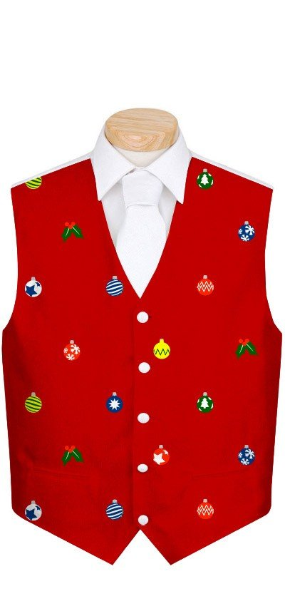 Canada Maple Leaf White StretchTech Men's Waistcoat MTO