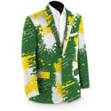 Green & Gold Paint Men's Sport Coat MTO