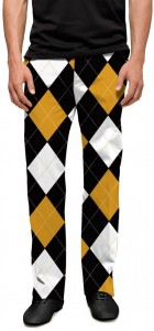 Black & Gold Argyle StretchTech Men's Trouser MTO