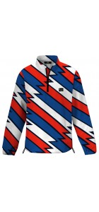 Captain USA Half Zip Long Sleeve Windshirt