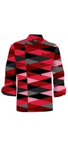 Fore Shades of Red Chef Jacket MTO