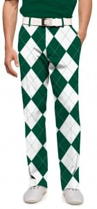 Green & White Argyle Men's Trouser MTO