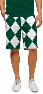 Green & White Argyle Men's Short MTO