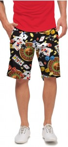 Jackpot Black StretchTech Men's Short MTO