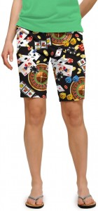 Jackpot Black StretchTech Women's Bermuda Short MTO