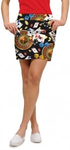 Jackpot Black StretchTech Women's Skort/Skirt MTO