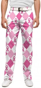 Pink Ribbon Argyle StretchTech Men's Trouser MTO