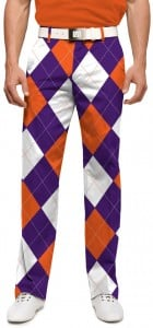Purple & Orange Argyle StretchTech Men's Trouser MTO