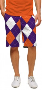 Purple & Orange Argyle StretchTech Men's Short MTO