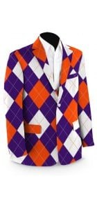 Purple & Orange Argyle StretchTech Men's Sport Coat MTO