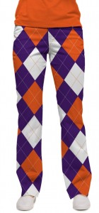 Purple & Orange Argyle StretchTech Women's Capri/Trouser MTO