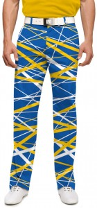 Stix Blue & Gold StretchTech Men's Trouser MTO