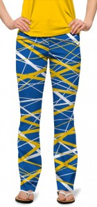 Stix Blue & Gold StretchTech Women's Capri/Trouser MTO